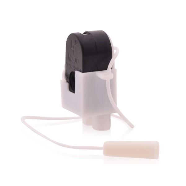 Lichtschalter Lampenschalter mit Schnur 2A 250V Schnurschalter Zwischenschalter An Aus Schalter in schwarz
