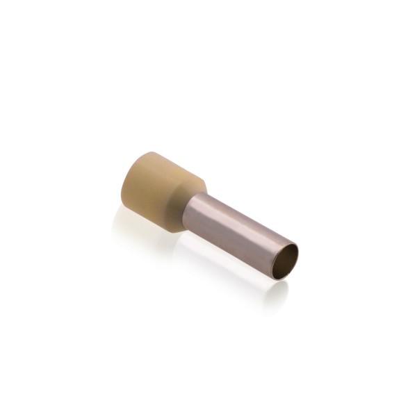 Aderendhülsen isoliert mit Kunststoffkragen DIN 35,00mm² Hülsenlänge 16,0mm Beige