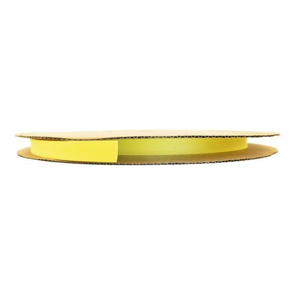 Schrumpfschlauch Isolierschlauch 2:1 (D=12,7mm/d=6,4mm) in Gelb, Länge 75 m auf praktischer Spule