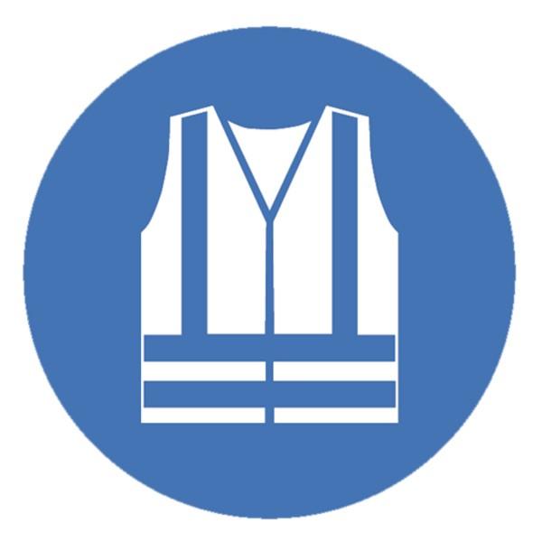 Gebotszeichen Warnweste benutzen Sicherheitsschild Warnschild 200mm aus nicht selbstklebendem PVC Be