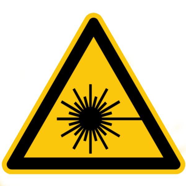 Warnzeichen Warnung vor Laserstrahl Sicherheitsschild Warnschild 200mm aus nicht selbstklebendem PVC