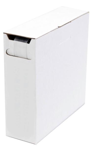 Schrumpfschlauch Isolierschlauch 2:1 (D=1,6mm/d=0,8mm) 15 m Transparent in praktischer Spender Box