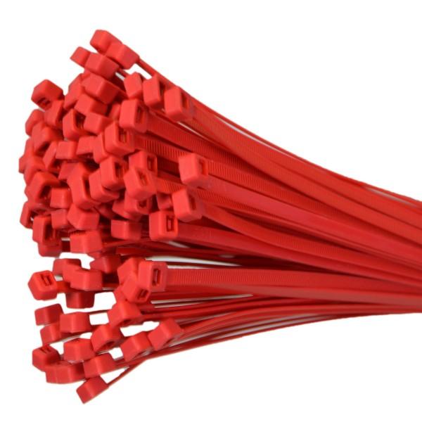 Kabelbinder Rot 100mm x 2,5mm max. Bündel 24mm UV-beständig 100 Stück