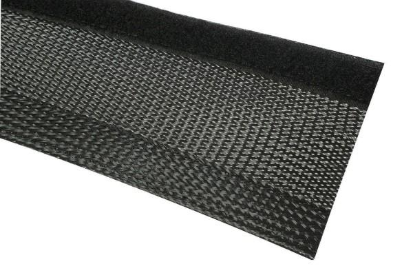 Geflechtschläuche mit Klettverschluss 7-8mm Bündel schwarz JSGF37300
