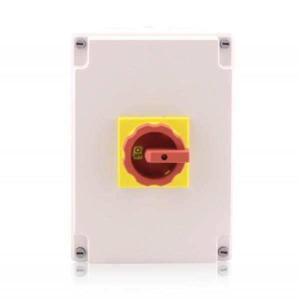 Hauptschalter im Gehäuse Lasttrennschalter 4-polig 100A Reparaturschalter Not-Aus-Schalter Premium V