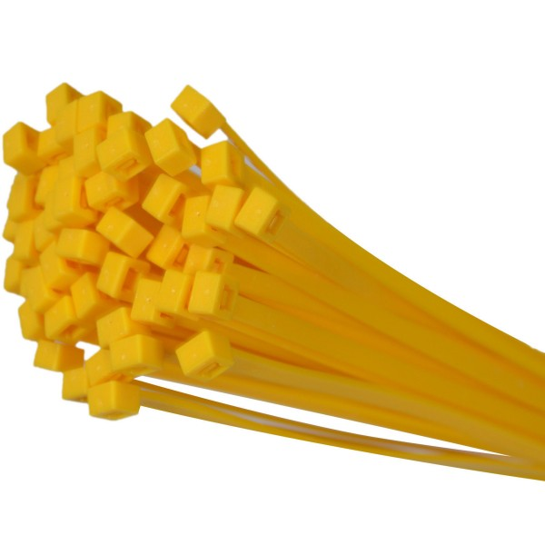 Kabelbinder Gelb 280mm x 4,8mm max. Bündel 76mm UV-beständig 100 Stück