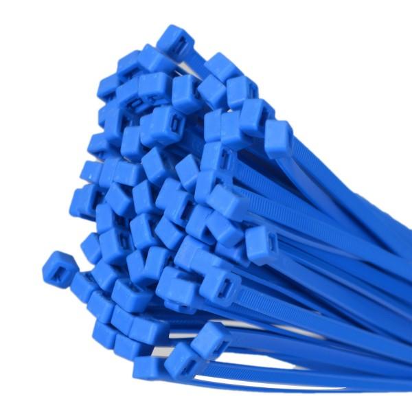 Kabelbinder Blau 100 Stk. 100mm x 2,5mm max. Bündel 24mm UV-beständig