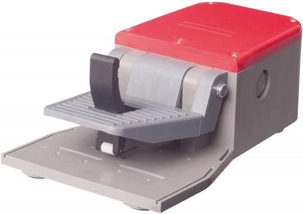 Fußschalter Fußpedal mit Abdeckung in Rot 1NO+1NC Schleichschalter Kunststoff mit Sicherheitshebel