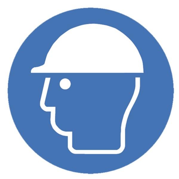 Gebotszeichen Schutzhelm benutzen Sicherheitsschild Warnschild 200mm aus selbstklebendem PVC Betrieb